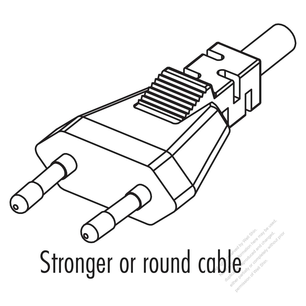 norway 2 pin straight ac plug 2 5a 250v well shin technology co AC Cord Diagram norway 2 pin straight ac plug 2 5a 250v