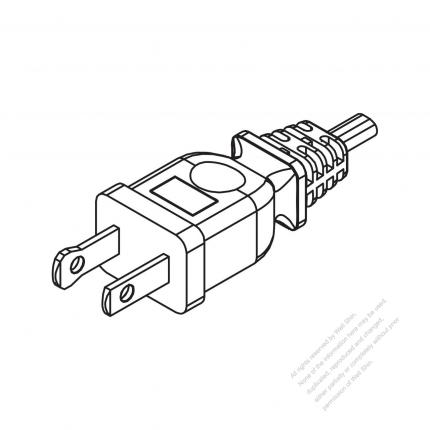 Usacanada Nema 1 15p Straight Ac Plug 2 P 2 Wire Non Grounding