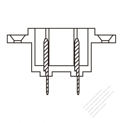 AC Socket IEC 60320-1 (C18) Appliance Inlet 10A 250V