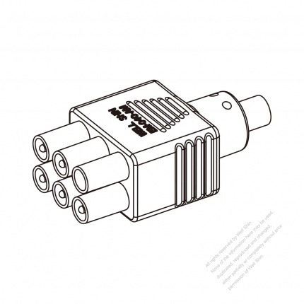 30a 6 Pin Plug Connector