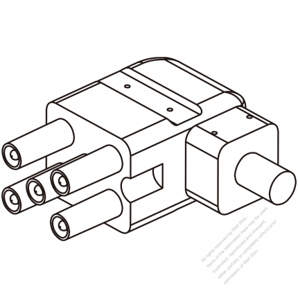 45a 5 Pin Plug Connector Elbow