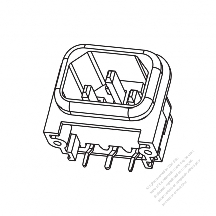 AC Socket IEC 60320-1 (C14) Appliance Inlet 10A 250V