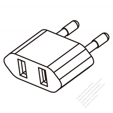 European Adapter Plug To Nema 1 15r Connector 2 To 2 Pin
