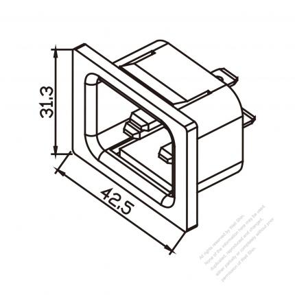 AC Socket IEC 60320-1 (C20) Appliance Inlet 16A/20A 250V