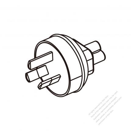 Adapter Plug Australian Plug To Iec 320 C5 Female Connector 3 To 3
