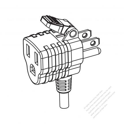 Usacanada Nema 5 15p15r T Shape Ac Plug 2 P 3 Wire Grounding 15a