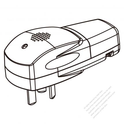 China Plug Smart Control 3 Pin Sound Control 10a 250v