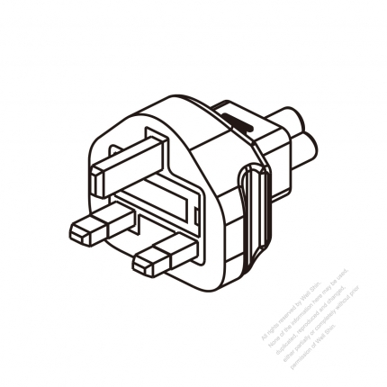 Adapter Plug Uk Plug To Iec 320 C5 Female Connector 3 To 3 Pin 2 5a