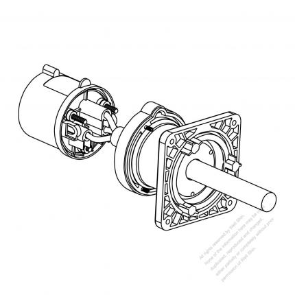 Iec 309 Interlock Inlet 2 P 3 Wire Ip 44 Splash Proof With Cap