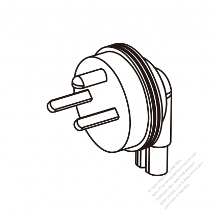 Adapter Plug Denmark Angle Type To Iec 320 C7 Female Connector 3 To