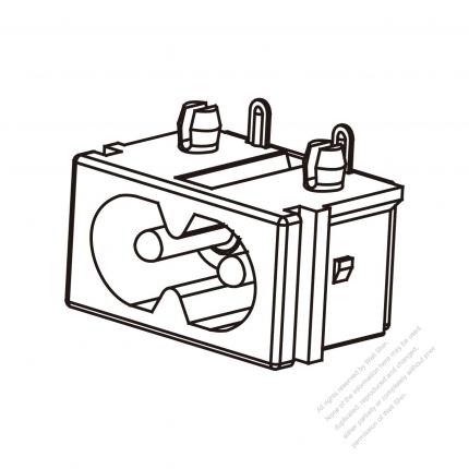 AC Socket IEC 60320-1 (C8) Appliance Inlet 2.5/5A 250V