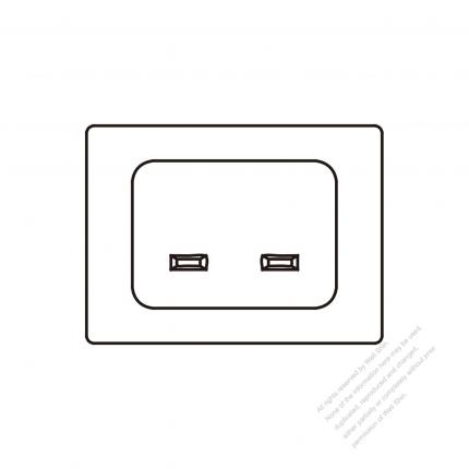 AC Socket IEC 60320-1 (C24) Appliance Inlet 16A 250V
