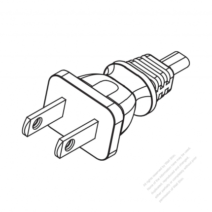 Mexico 2 Pin Ac Plug 10a 125v