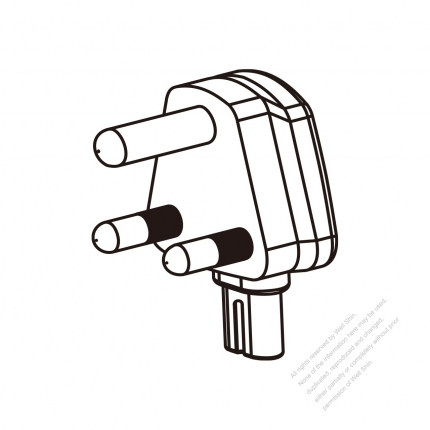 Adapter Plug South African Large Angle Type To Iec 320 C7 Female