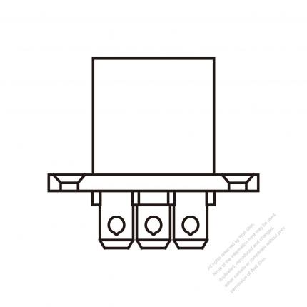 AC Socket IEC 60320-2 Sheet F Appliance Outlet, Screw Type, 10A/15A
