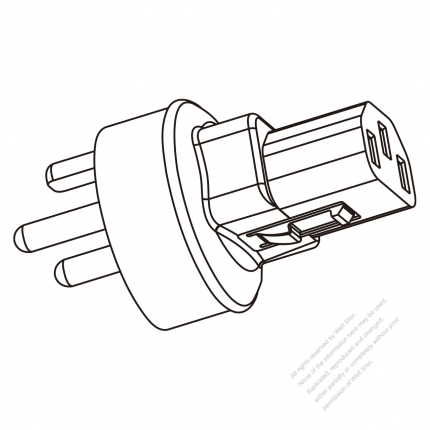 Adapter Plug Denmark Type To Iec 320 C13 Female Connector 3 To 3