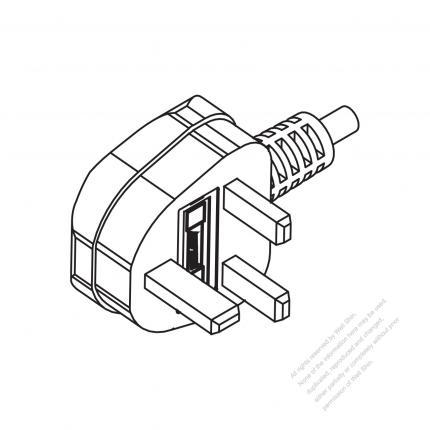 Malaysia 3 Pin Ac Plug 6a 10a 13a 250v