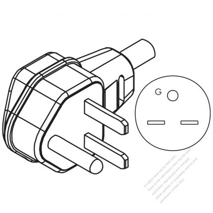 3 Wire Grounding Elbow Ac Plug 30a