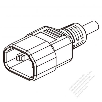 China Iec 320 Sheet E C14 Plug Connectors 3 Pin Straight 10a 250v