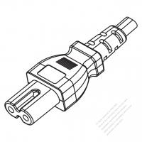 USA/Canada IEC 320 C7 Connectors 2-Pin Straight 10A 125/250V