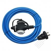 China 3-Pin Locking Cord 3*1.0MMSQ Blue 5M or 10M (16.4 or 32.8FT)