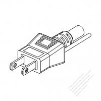 Taiwan/ Japan 2-Pin 2 wire Straight AC Plug, 7~15A 125V
