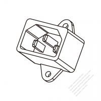 AC Socket IEC 60320-1 (C14) Appliance Inlet, Screw Type, 10A 250V