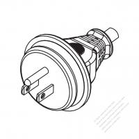 Taiwan/ Japan 3-Pin Straight AC Plug, 7~15A 125V