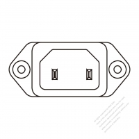 AC Socket IEC 60320-1 (C18) Appliance Inlet 10A 250V