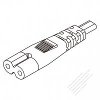 USA/Canada IEC 320 C7 Connectors 2-Pin Straight 10A (7A)/13A 125/250V