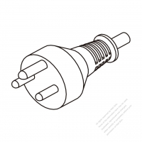 Denmark 3-Pin Plug/ Cable End Cut AC Power Cord - Molding PVC 1.8M (1800mm) Black  (H05VV-F  3G 0.75mm2  )