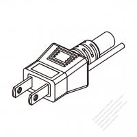 Japan 2-Pin Plug/ Cable End Cut AC Power Cord - Molding PVC 1.8M (1800mm) Black  (VCTF   3X0.75mm2  Round )
