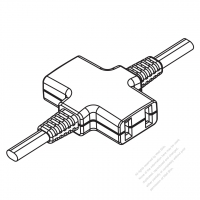 USA/Canada Multi-outlet AC Connector (NEMA 1-15R) Straight Blade 3 outlet, 2 P, 2 Wire Non-Grounding15A 125V
