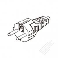 Russia 3 Pin Plug/ Cable End Cut AC Power Cord - Molding PVC 1.8M (1800mm) Black  (H05VV-F  3G 0.75mm2  )
