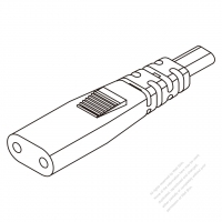 USA/Canada IEC 320 C1 Connectors 2-Pin 2.5A 250V