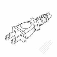 Taiwan/ Japan 2-Pin 2 wire Straight AC Plug, 7A/9A/ 11A/ 15A/12A 125V