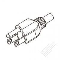 Taiwan 3-Pin Plug/ Cable End Cut AC Power Cord - Molding PVC 1.8M (1800mm) Black  (VCTF   3X0.75MM  Round )