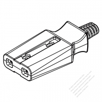 USA/Canada AC Connector 2-Pin Electric Cooker Connectors and inlets 10A 125V