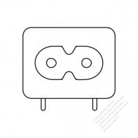 AC Socket IEC 60320-1 (C8) Appliance Inlet 2.5A 250V