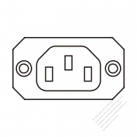 AC Socket IEC 60320-2 Sheet F Appliance Outlet, Screw Type, 10A/15A