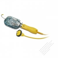 USA 2Pin 7W Working Light with Cord NEMA 1-15P Plug, Yellow 15 FT (4.57M)