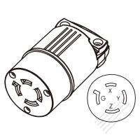 ac plug connector assembly well shin technology co ltd Twist Door Lock usa canada twist lock connector nema l14 20r 4 pin