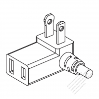 Taiwan/ Japan 2-Pin 2 wire T Shape AC Plug, 10A 125V