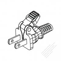 Taiwan/ Japan 2-Pin 2 wire Easy-Pull Smart AC Plug