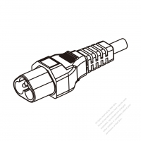 Europe 3 Pin IEC Sheet A Plug/Cable End Remove Outer Sheath 20mm Semi-Stripe Inner Sheath 13mm AC Power Cord - Molding PVC 1.8M (1800mm) Black  (H03VV-F  3G 0.75mm2 )