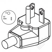 usa canada rv ac plug nema tt 30p 2 p 3 wire grounding elbow 30 ISO Twist Locks usa canada nema 5 20p elbow ac plug 2 p 3 wire