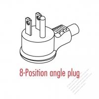 Taiwan/ Japan 3-Pin Elbow AC Plug 15A/125V