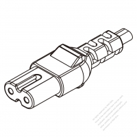 USA/Canada IEC 320 C7 Connectors 2-Pin Straight 2.5A 250V