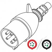 IEC 309  (3P+N+E ) IP 44 Splash proof AC Plug, 32A 480V (7H)