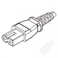 USA/Canada IEC 320 C7 Connectors 2-Pin Straight 10/13A 125/250V